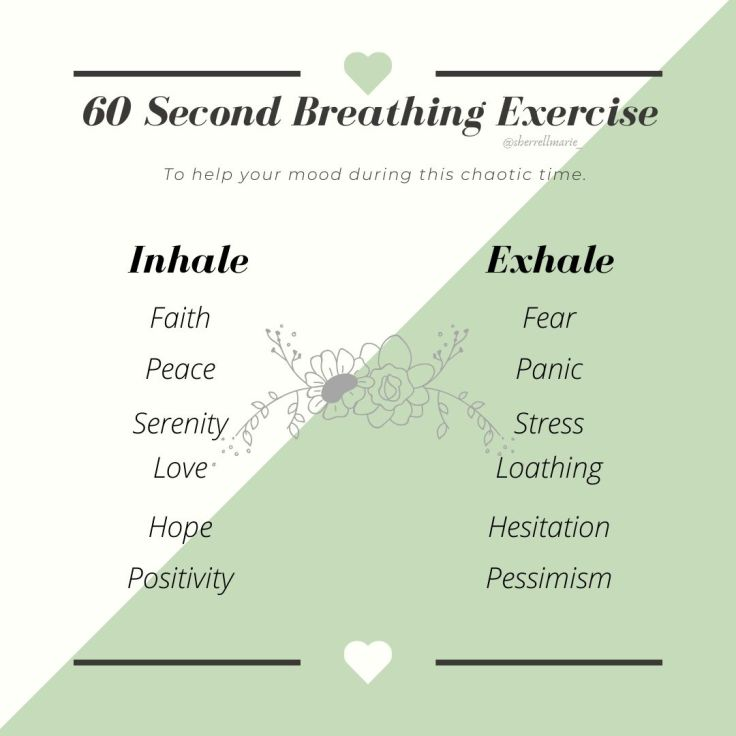 60 Second Breathing Exercise